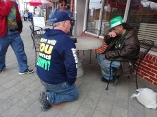 Homeless Man in Seaside (3)