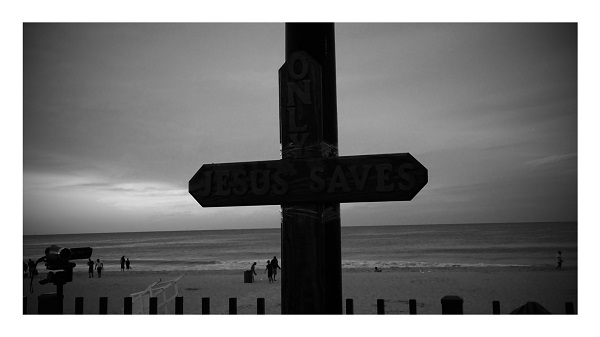Rblack and white cross
